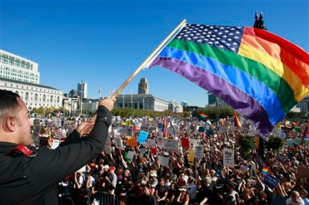 Gay Marriage Protest November 15, 2008. AP Photo/Darryl Bush